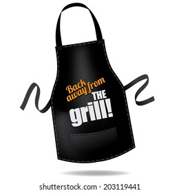 Back away from the grill apron