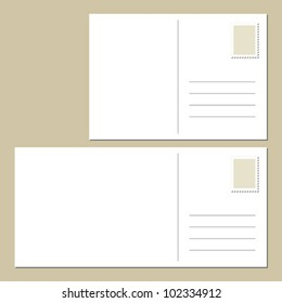 The back of blank postcard