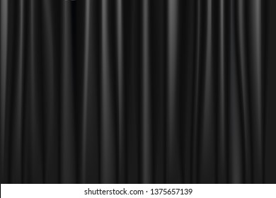 Back curtain windows texture background, copy space. Vector illustration