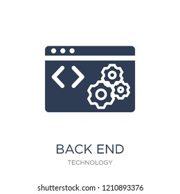 Back End icon. Trendy flat vector Back End icon on white background from Technology collection, vector illustration can be use for web and mobile, eps10