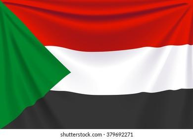 back flag sudan
