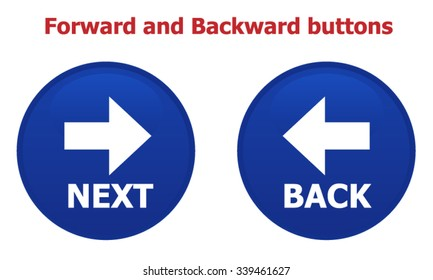 Back and Next buttons