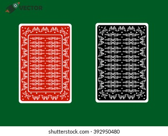back of playing card with Thai classic line, vector and illustration