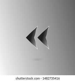 Back rewind flat icon. Rewind illustration eps10/ For websites, applications, programs, etc.
