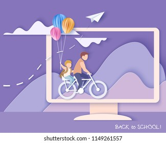 Egyptian Ancient Woman By Bicycle Isolated Stock Illustration