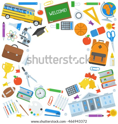 back school background congratulations card invitation stock vector
