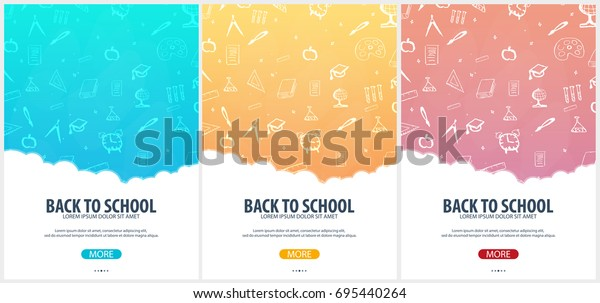 Back to School background. Education banner. Vector illustration