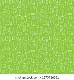 back to school. back to school background. back to school pattern with green vector