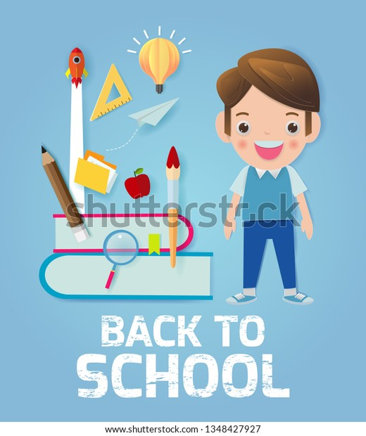 Back School Banner Background Back School Stock Vector Royalty Free 1348427927