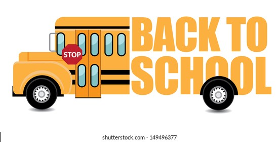 Back to School Bus. EPS 10 vector, grouped for easy editing. No open shapes or paths.