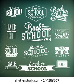 Back to School Calligraphic Designs | Retro Style Elements | Vintage Ornaments | Sale, Clearance | Vector Set