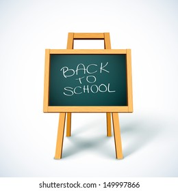 Back to School chalkboard icon. Vector illustration.