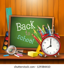 Back to school - colorful vector background