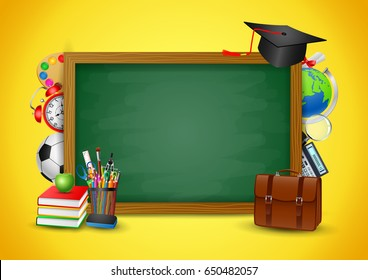 Back to School Colorful, vector illustrations.