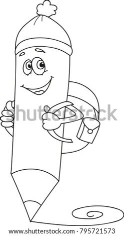 Back School Coloring Page Outline Cartoon Stock Vector Royalty Free
