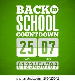Back to School countdown. Vector.