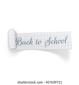 Back to School curved paper Banner