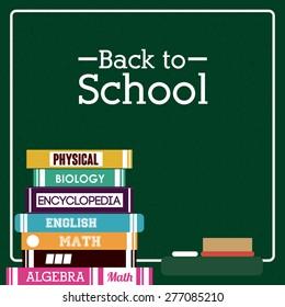 Back to school design over green background, vector illustration