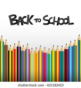 Back to school design with pencil. Vector illustration