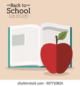 Back to School digital design, vector illustration eps 10
