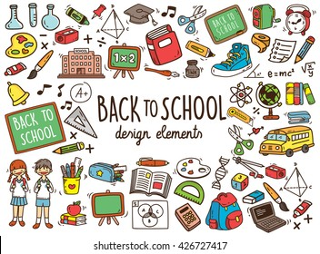 Back to school doodle elements