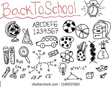back to school, doodle sketch