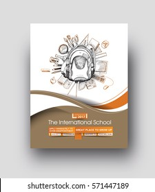 Back To School Flyer & Poster Template - vector background.
