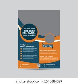 Back to school Flyer& poster. Vector illustration Design.