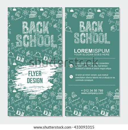 Back School Flyer Template Different School Stock Vector Royalty