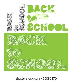 back to school grunge lettering