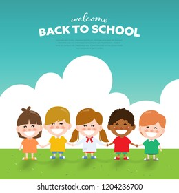 Back to school and Happy children day background.