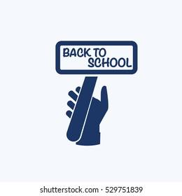 Back to school icon design,clean vector