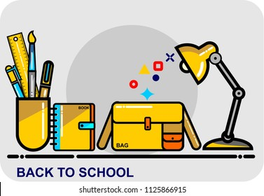 back to school, icon vector