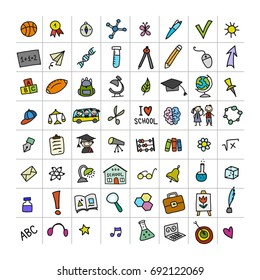 Back to school, icons for your design