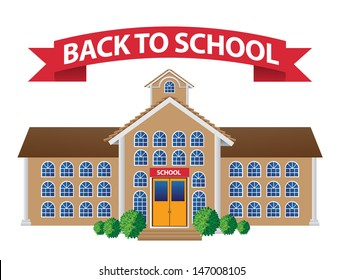 Back to school illustration. EPS 10 vector, grouped for easy editing. No open shapes or paths.