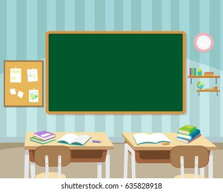 back to school kids,education concept with chalkboard and books background template.Can be used for web banner, backdrop, ad, promotion.