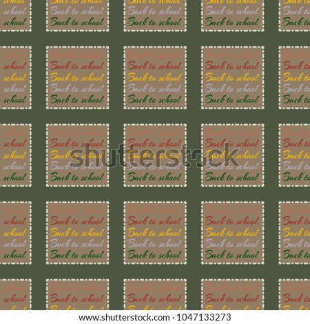 Back School New Seamless Pattern Background Stock Vector