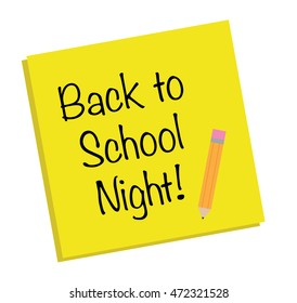 Back to School Night Note