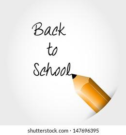 back to school pencil. school concept