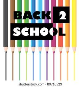 back to school pencils illustration
