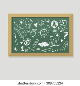 back to school print vector design