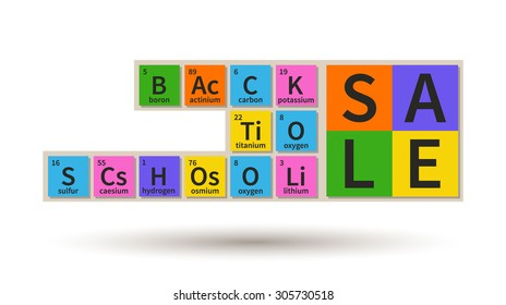 Back To School Sale banner, chemistry theme
