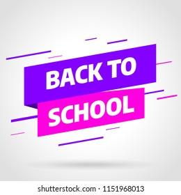 Back to school Sale banner template design, Big sale special offer. Vector illustration.