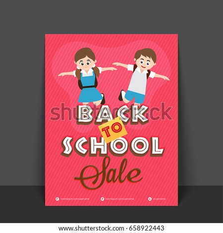 back school sale flyer template banner stock vector royalty free