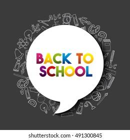 back to school set supplies icon vector illustration design