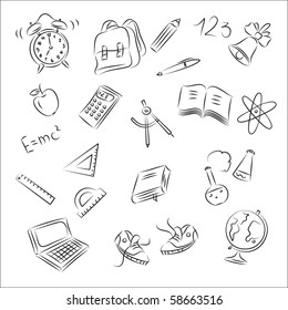 bell sketch images stock photos vectors shutterstock ACS Diagram back to school sketch collection