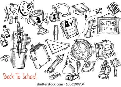 back to school, sketch, doodle