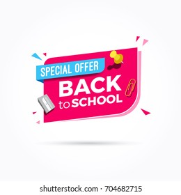 Back to School Special Offer Label
