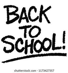 Back to School Text - A vector cartoon illustration of a handwritten Back to School Text concept.
