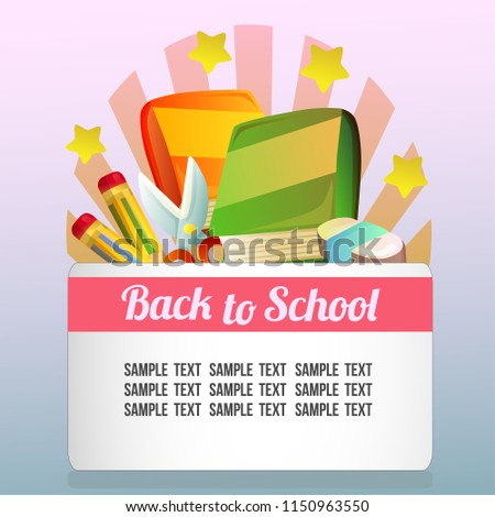back school theme stationary stock vector royalty free 1150963550